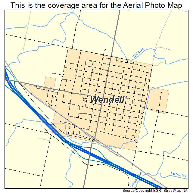 Wendell, ID location map