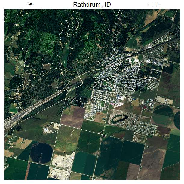 Aerial Photography Map Of Rathdrum Id Idaho