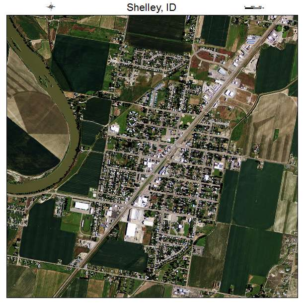 Aerial Photography Map Of Shelley Id Idaho