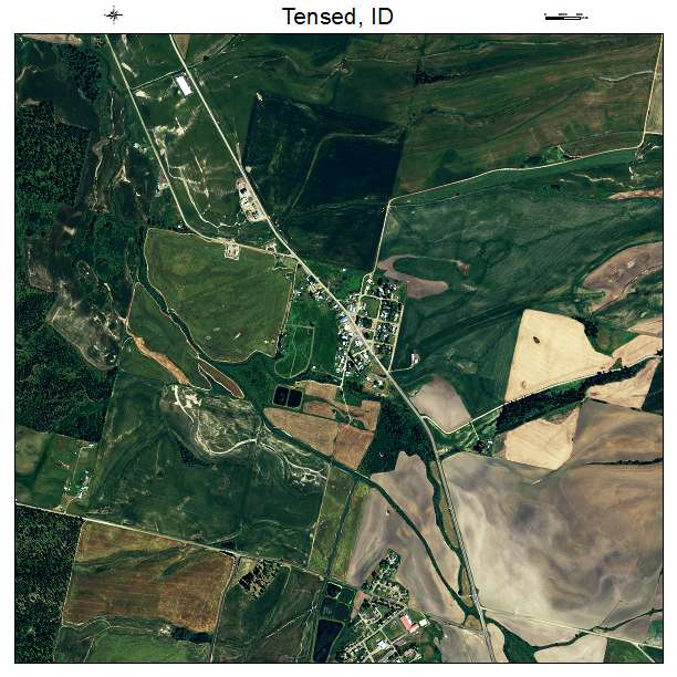 Tensed, ID air photo map