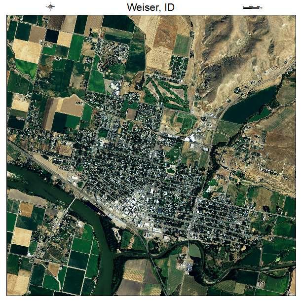 Weiser, ID air photo map