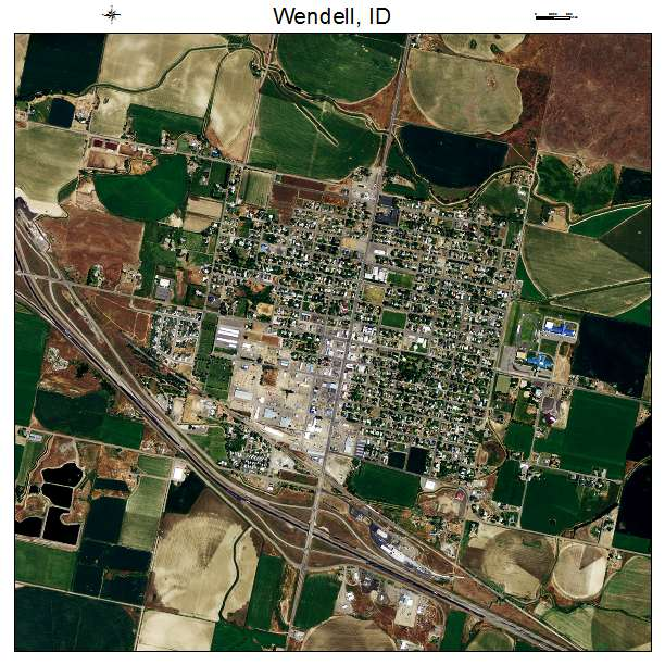 Wendell, ID air photo map