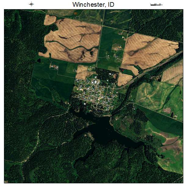 Winchester Idaho Map.Aerial Photography Map Of Winchester Id Idaho