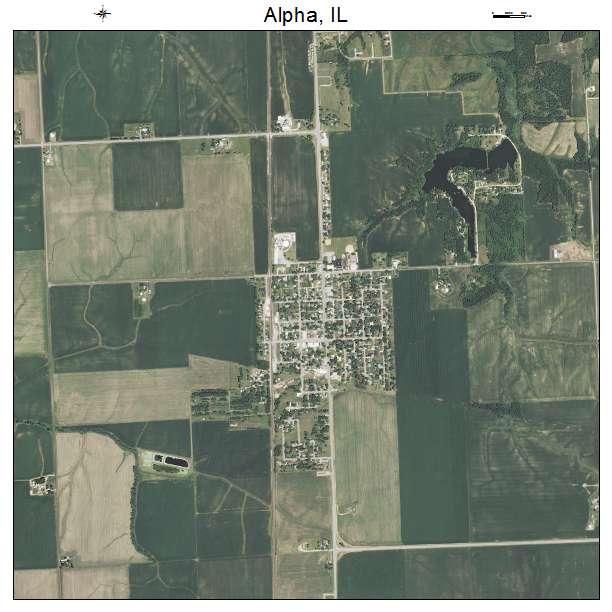 Alpha, IL air photo map
