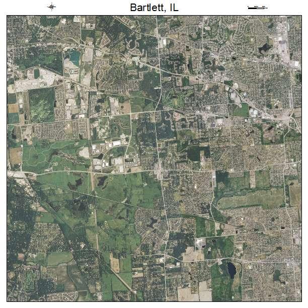 Bartlett, IL air photo map