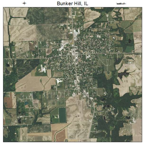 Bunker Hill Illinois Map.Aerial Photography Map Of Bunker Hill Il Illinois