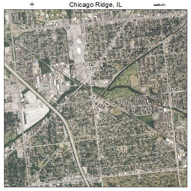 Aerial Photography Map Of Chicago Ridge IL Illinois