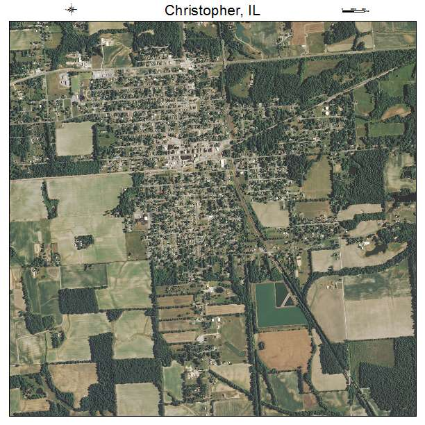 Christopher, IL air photo map
