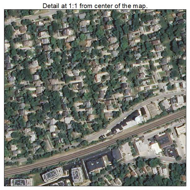 North Hills At Town Center: Aerial Photography Map Of Clarendon Hills, IL Illinois