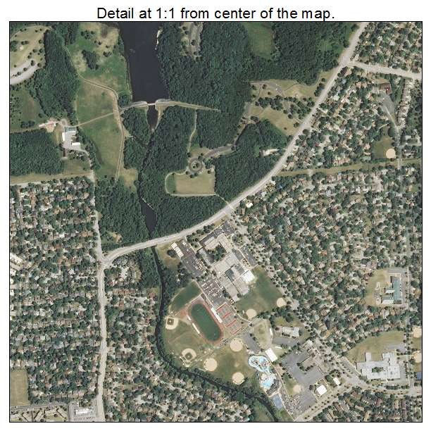 Aerial Photography Map Of Elk Grove Village Il Illinois