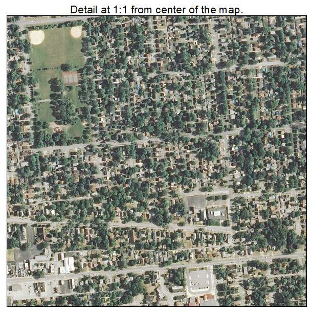 Aerial Photography Map Of Lansing IL Illinois