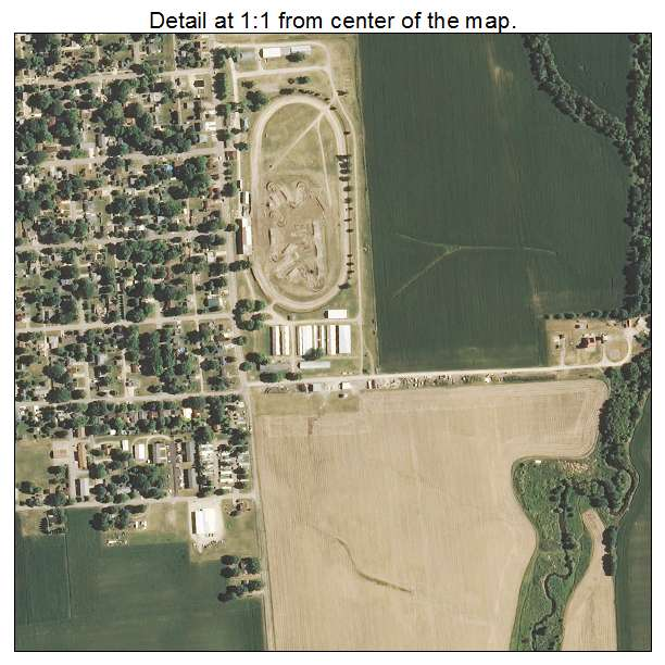 Mendota, Illinois aerial imagery detail