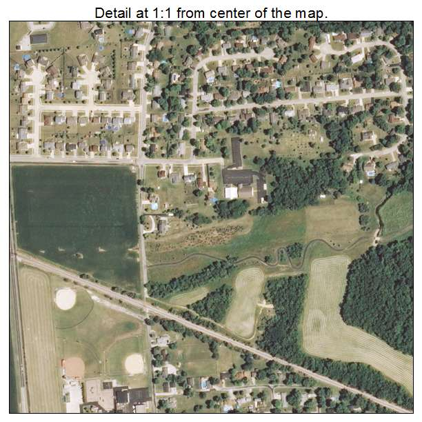 Aerial Photography Map of Zion, IL Illinois