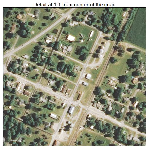 Nilwood, Illinois aerial imagery detail