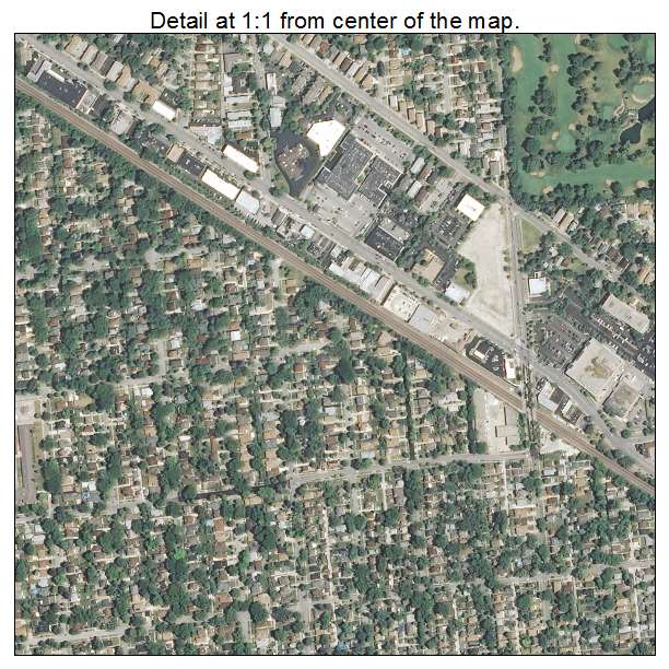 Aerial Photography Map Of Park Ridge Il Illinois