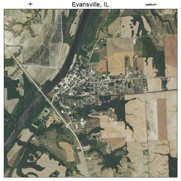 Evansville Illinois Map.Aerial Photography Map Of Evansville Il Illinois