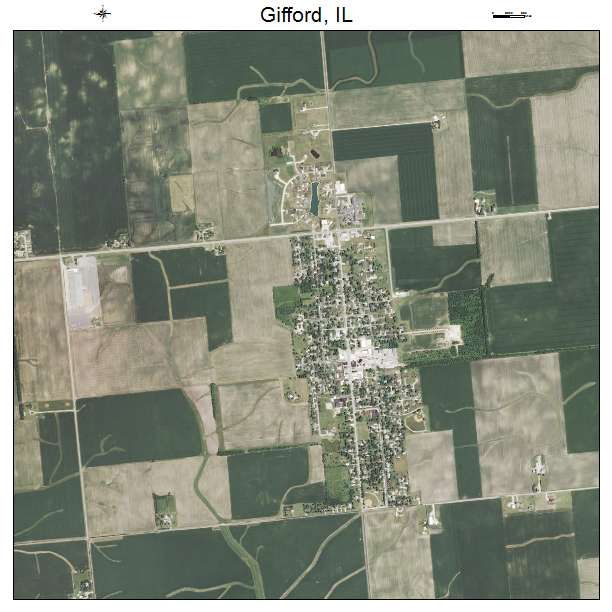 Gifford, IL air photo map