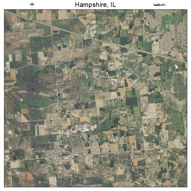 Hampshire Illinois Map.Aerial Photography Map Of Hampshire Il Illinois