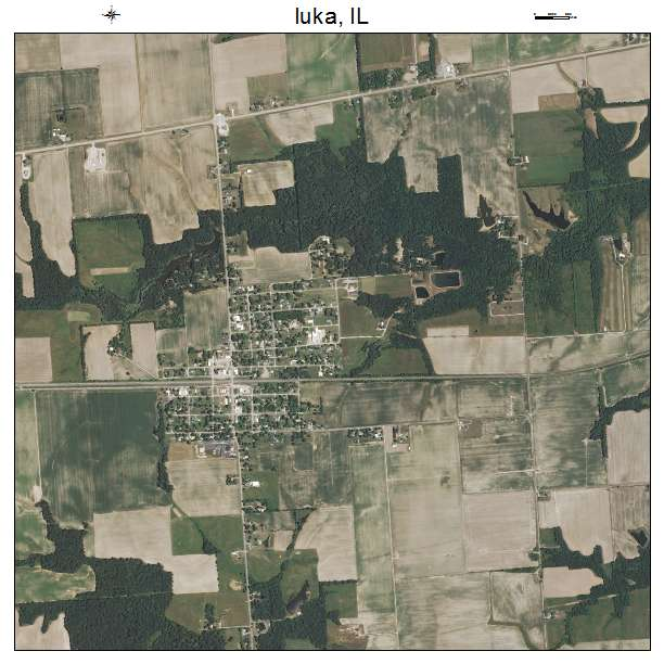 Iuka, IL air photo map