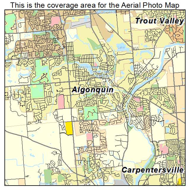 Aerial Photography Map of Algonquin, IL Illinois