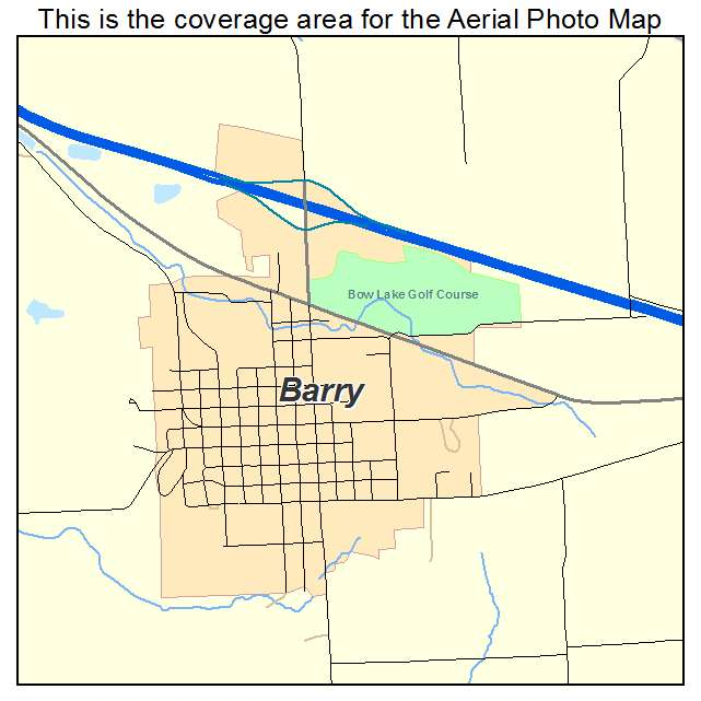 Aerial Photography Map of Barry IL Illinois
