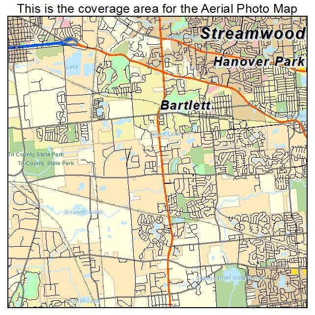 Bartlett, IL location map
