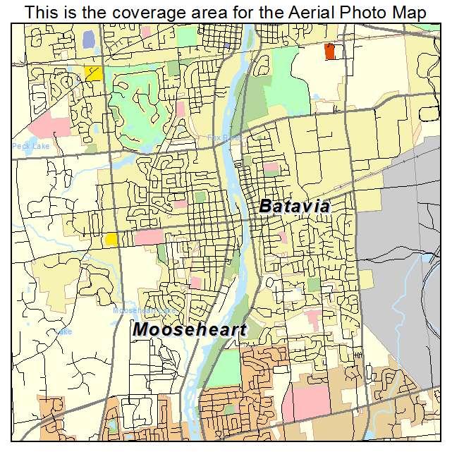 Aerial Photography Map Of Batavia IL Illinois