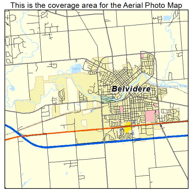 Aerial Photography Map Of Belvidere Il Illinois