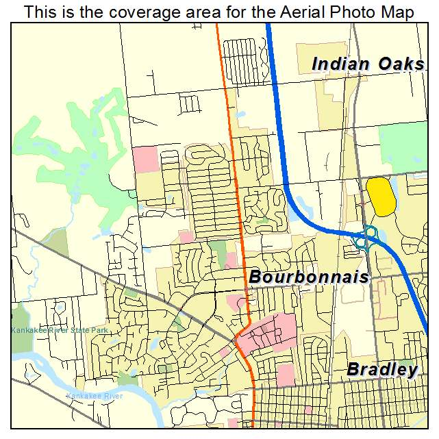 Aerial Photography Map Of Bourbonnais Il Illinois