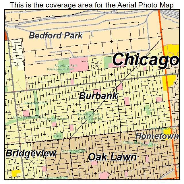 Burbank Illinois Street Map