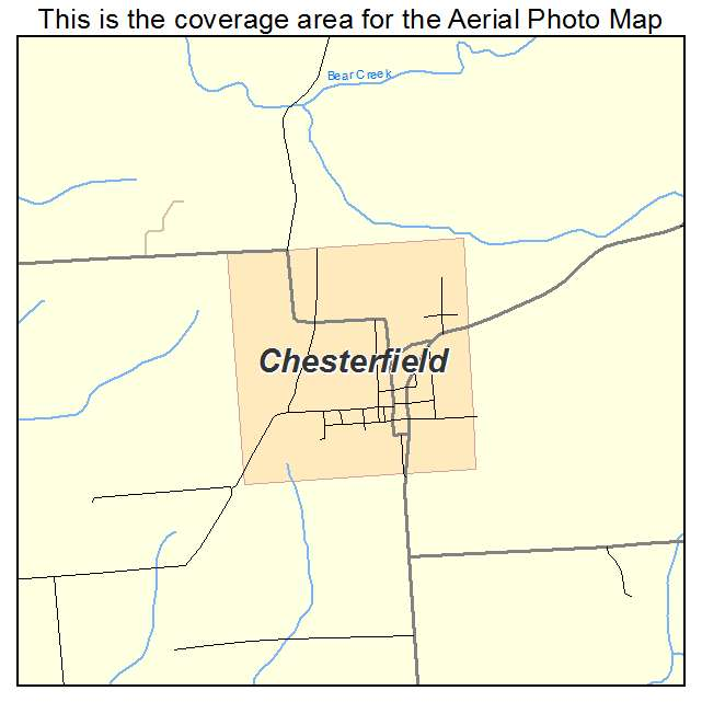 Chesterfield, IL location map