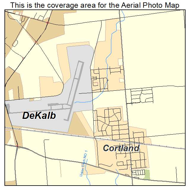 Town Center By Cortland: Aerial Photography Map Of Cortland, IL Illinois