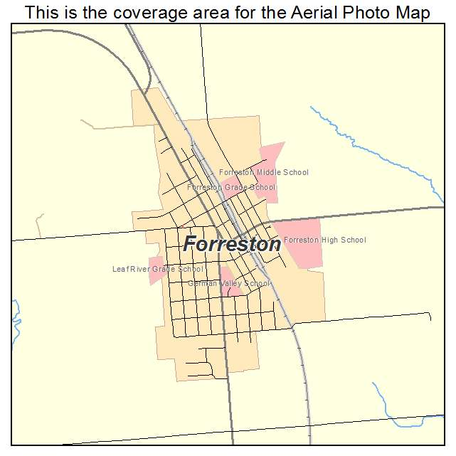 Reston Town Center Map: Aerial Photography Map Of Forreston, IL Illinois