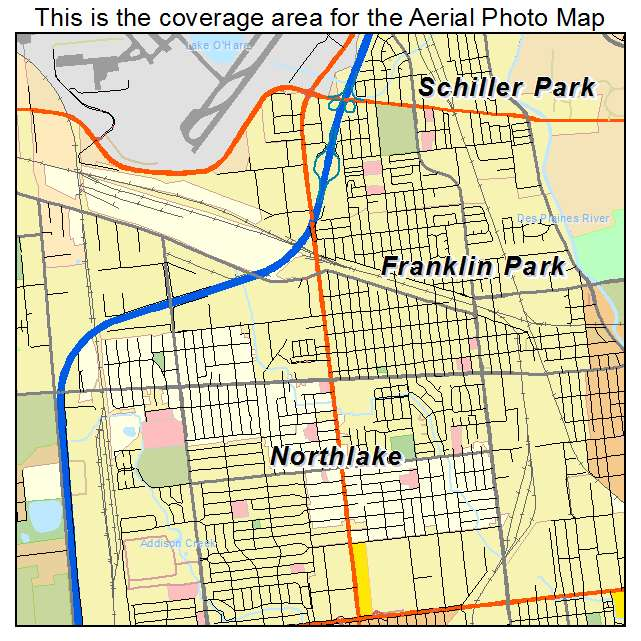 Franklin Park Illinois Map.Aerial Photography Map Of Franklin Park Il Illinois