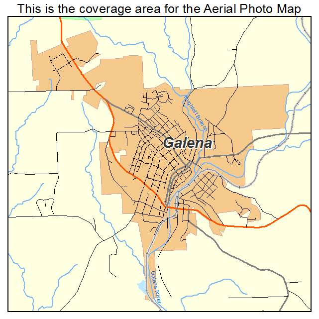 Aerial Photography Map of Galena IL Illinois