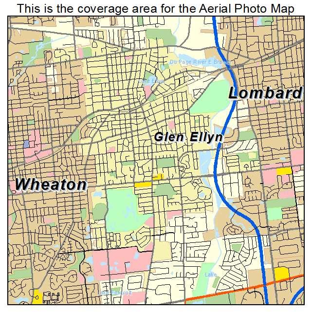 Glen Ellen Illinois Map.Aerial Photography Map Of Glen Ellyn Il Illinois