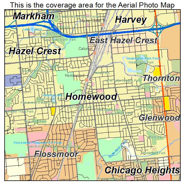 Homewood IL Map - Bing images