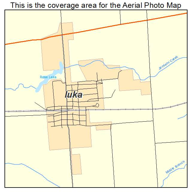 Iuka, IL location map