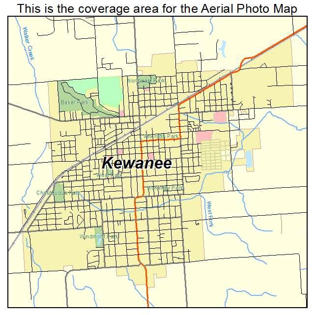 Kewanee Illinois Map.Aerial Photography Map Of Kewanee Il Illinois