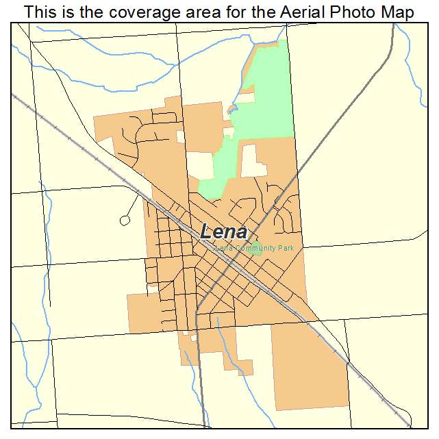 Aerial Photography Map Of Lena Il Illinois