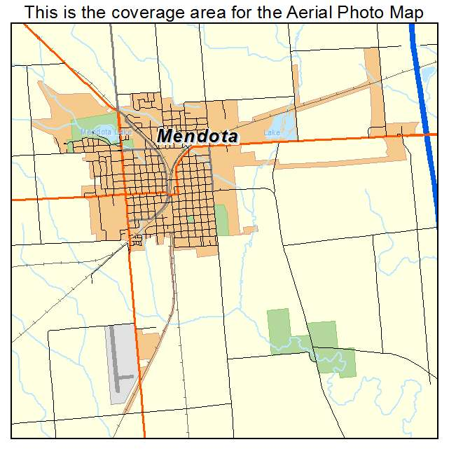 Mendota, IL location map