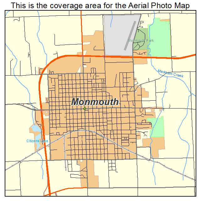 Aerial Photography Map Of Monmouth Il Illinois