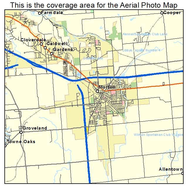 City Of Morton Illinois: Aerial Photography Map Of Morton, IL Illinois