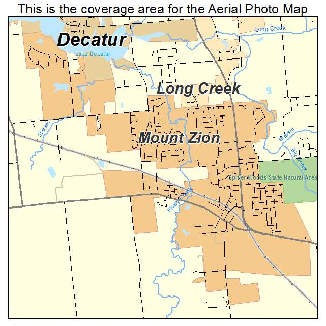 Aerial Photography Map of Mount Zion, IL Illinois