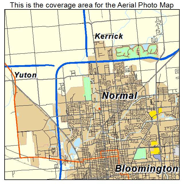 Aerial Photography Map Of Normal IL Illinois
