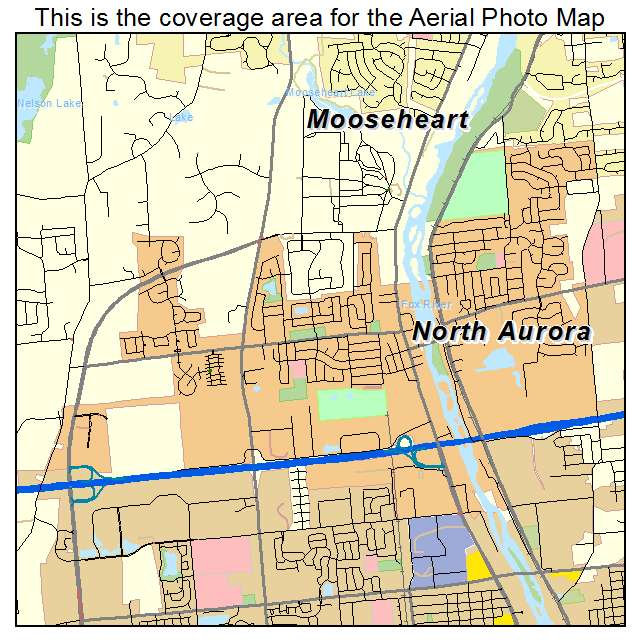 Aerial Photography Map Of North Aurora Il Illinois