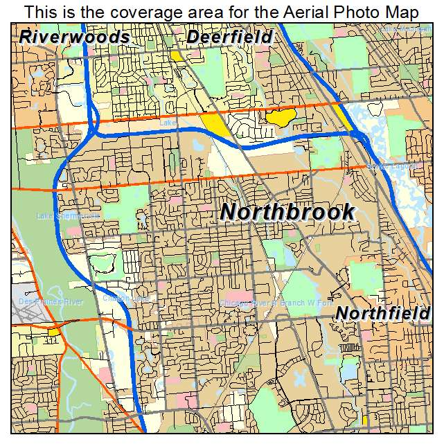 Northbrook Il Map Aerial Photography Map of Northbrook, IL Illinois Northbrook Il Map