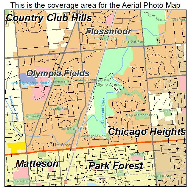 Olympia Fields Illinois Map