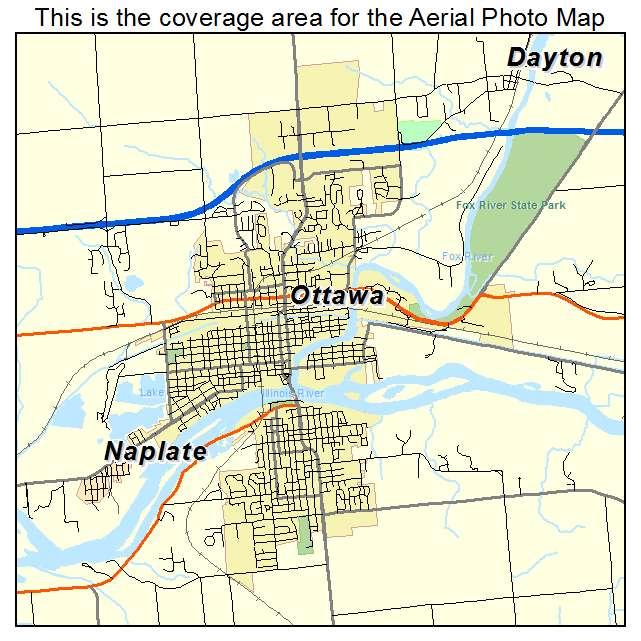 Aerial Photography Map Of Ottawa Il Illinois