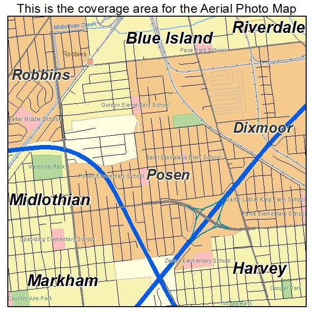 Posen Illinois Map
